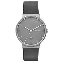 Skagen Ladies' Grey Leather Strap Watch - Product number 5866162