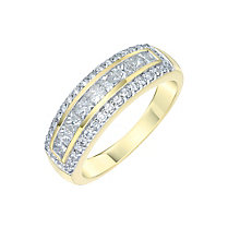 18ct Yellow Gold 1ct Diamond Wedding Band - Product number 5869099