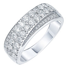 18ct White Gold 1ct Diamond Two Row Eternity Band - Product number 5869234