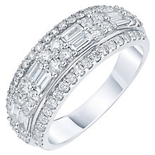 18ct White Gold 1ct Diamond Eternity Band - Product number 5869498