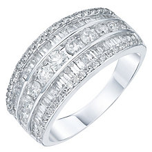 18ct White Gold 1ct Diamond Eternity Band - Product number 5869625