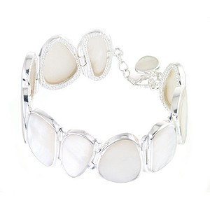 Sterling Silver & Mother Of Pearl Bracelet - Product number 5873509