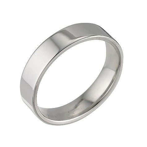 Platinum flat extra heavy weight ring 5mm