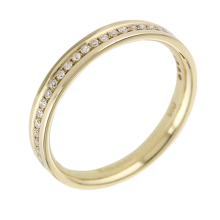 18ct yellow gold 15 point diamond set wedding ring - Product number 5877067