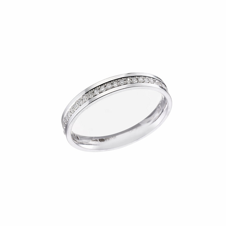 18ct white gold diamond wedding ring - Product number 5877199