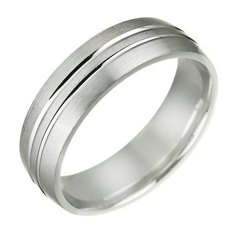 Men's 18ct white gold wedding ring