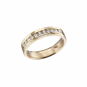 18ct gold quarter carat diamond wedding ring - Product number 5880270