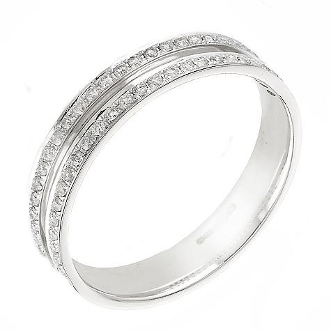 18ct ladies' white gold quarter carat diamond wedding ring
