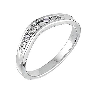 18ct white gold diamond set wedding ring - Product number 5882818