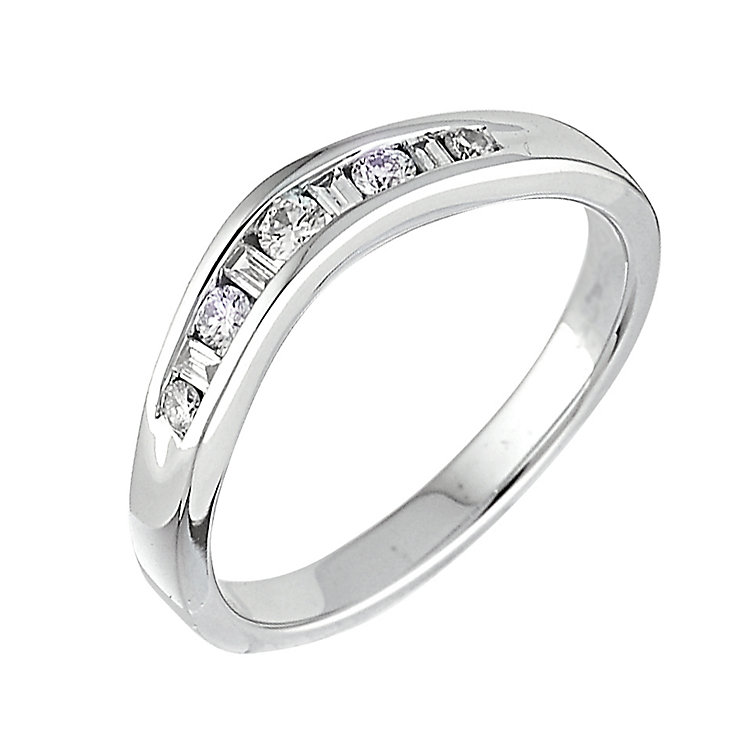 18ct white gold diamond set wedding ring - Product number 5882818
