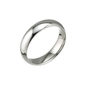 Palladium 950 5mm super heavy court ring - Product number 5883466