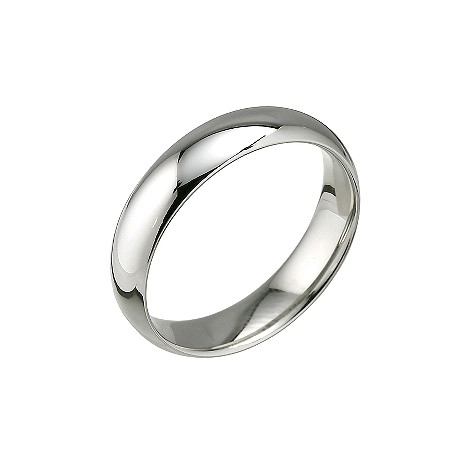 Palladium super heavy 5mm court wedding ring