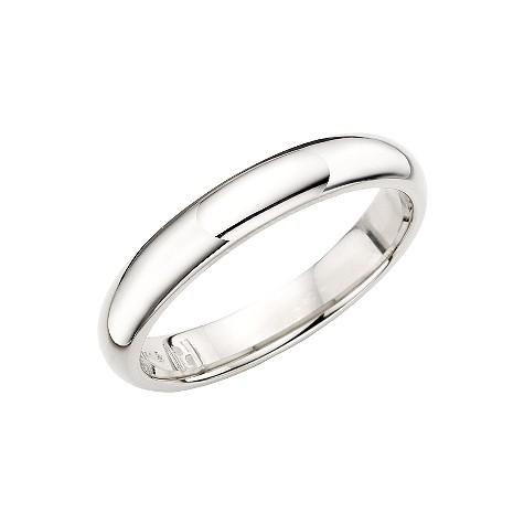 Palladium super heavy 4mm court wedding ring