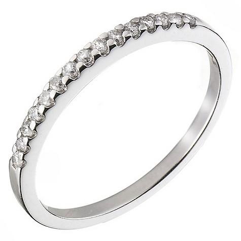 Ladies' platinum diamond wedding ring