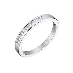 Platinum 1/5 carat diamond wedding ring - Product number 5884780