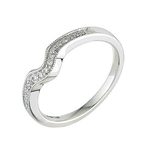 18ct white gold and diamond wedding ring - Product number 5885175