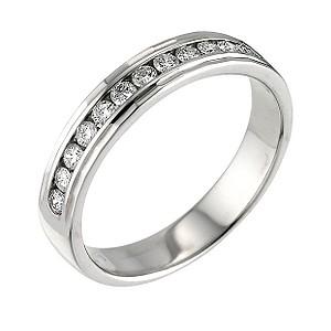 Platinum quarter carat diamond wedding ring - Product number 5891418
