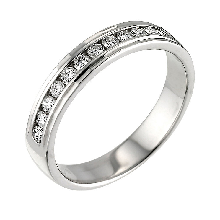 Platinum quarter carat diamond wedding ring - Product number 5891418