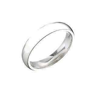 Palladium Super Heavy Weight Wedding 4mm Ring