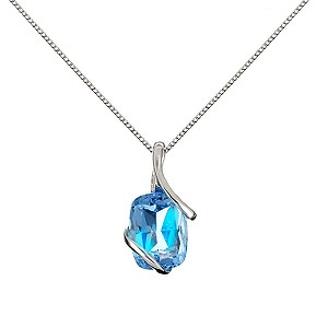 9ct White Gold Topaz Pendant Necklace
