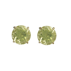 9ct Yellow Gold Peridot 5mm Stud Earrings - Product number 5914523