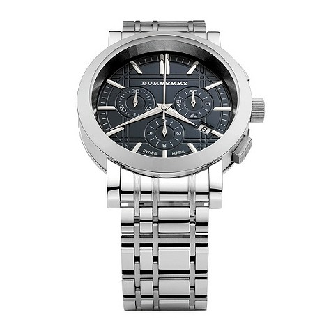 Burberry men's stainless steel chronograph watch