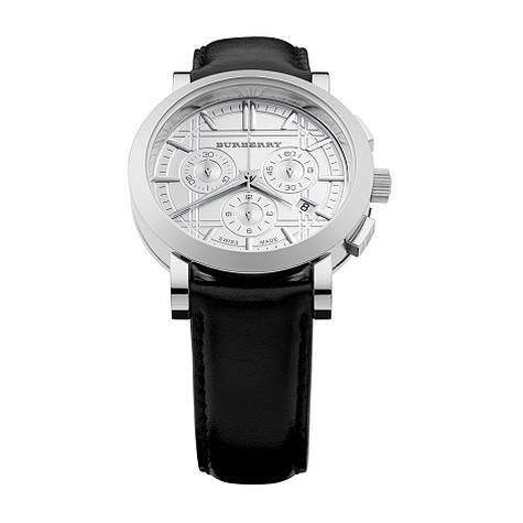 Burberry mens stainless steel chronograph watch