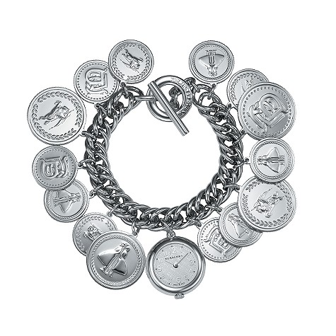 Burberry ladies' stainless steel coin medal charm watch