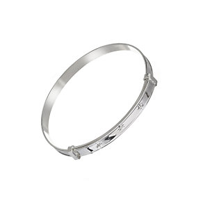 Sterling silver three diamond expanding bangle - Product number 5924715