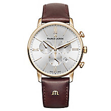 Maurice Lacriox Eliros Men's Rose Gold Plated Strap Watch - Product number 5925797