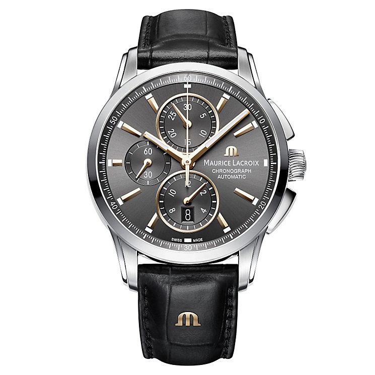 Maurice Lacriox Pontos Men's Stainless Steel Strap Watch - Product number 5928842