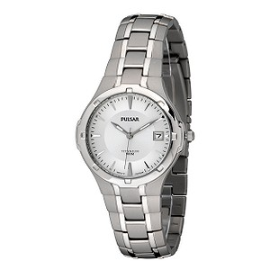 Pulsar Men's Titanium White Dial Bracelet Watch - Product number 5928907
