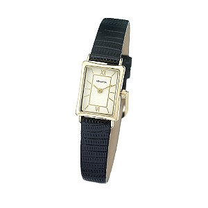 Sekonda Ladies' Black Leather Strap Watch