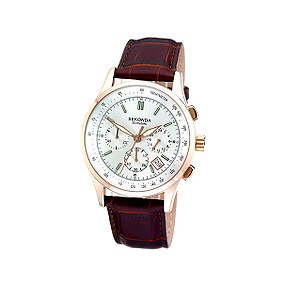 Sekonda Rosechrono Men's Leather Strap Watch - Product number 5929172