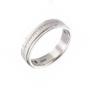 9ct white gold diamond wedding ring - Product number 5931533