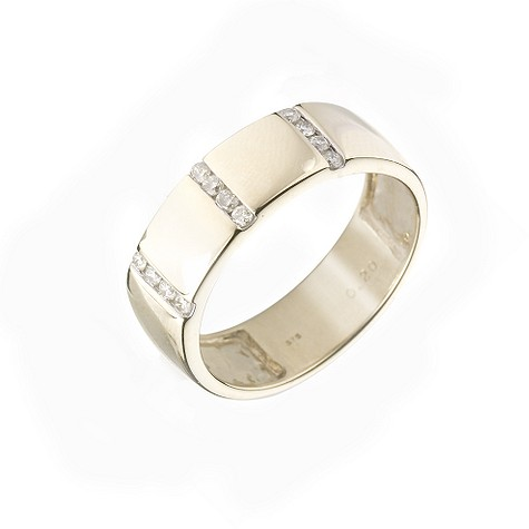 9ct gold diamond wedding ring