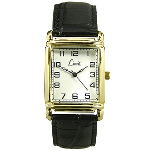 Limit Men's Black Leather Strap Watch - Product number 5936772