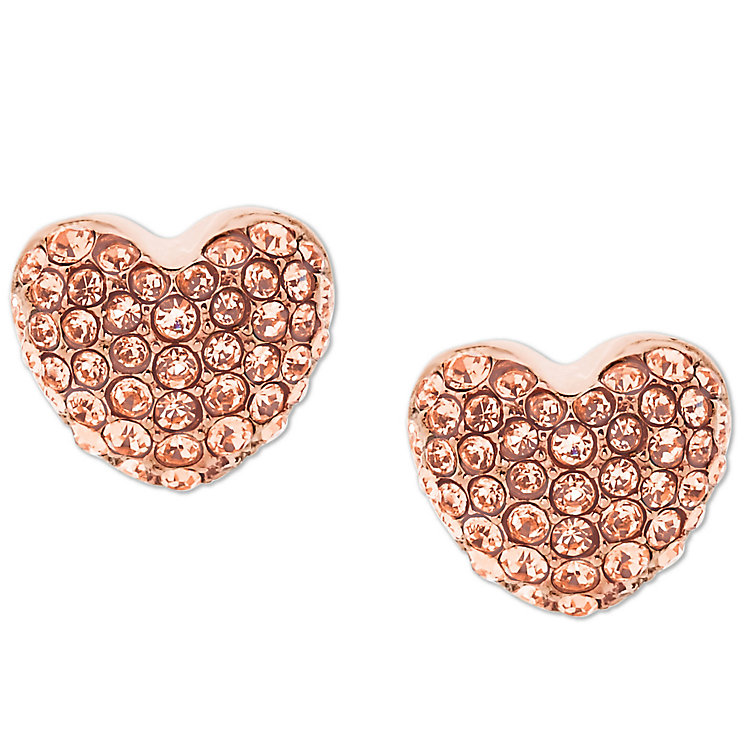 Michael Kors Rose Gold Tone Heart Studs - Product number 5937205