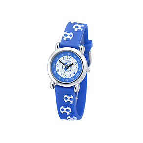 Citron Child's Blue and White Football Strap Watch - Product number 5937434
