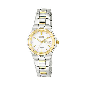 Citizen Eco-Drive Ladies' Two-colour Bracelet Watch - Product number 5937817
