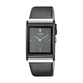 Citizen Eco-Drive Men's Black Strap Watch - Product number 5937914