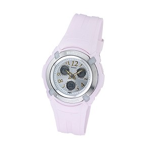 Baby-G Ladies`Digital Dial Pink Strap Watch