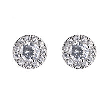 9ct white gold cubic zirconia vintage stud earrings - Product number 5938759