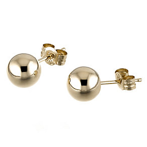 9ct yellow gold 6mm ball stud earrings - Product number 5938880
