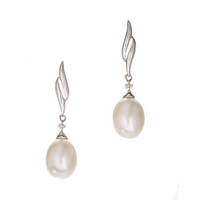 9ct gold cultured freshwater pearl drop earrings - Product number 5939860