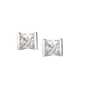 9ct white gold cubic zirconia tension set earrings - Product number 5941687