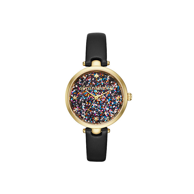 Kate Spade Ladies' Gold Tone Glitter Strap Watch - Product number 5941733