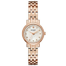 Kate Spade Ladies' Rose Gold Tone Stone Set Bracelet Watch - Product number 5941873