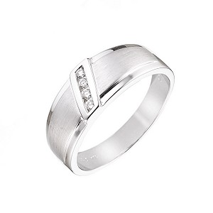 Men's Matt and Polished Diamond Ring - Product number 5955491