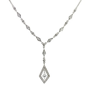 Sterling Silver Cubic Zirconia Vintage Necklace